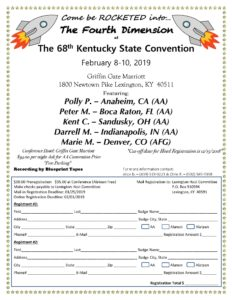 2019 Kentucky State AA Convention @ Griffin Gate Marriott | Lexington | Kentucky | United States