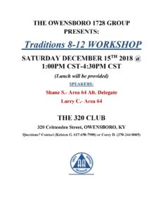 Owensboro Traditions Workshop @ 320 Club