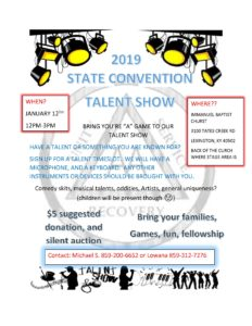2019 State Convention Talent Show @ IMMANUEL BAPTIST CHURCH