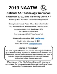 2019 NAATW ~ National AA Technology Workshop @ Sloan Convention Center | Bowling Green | Kentucky | United States