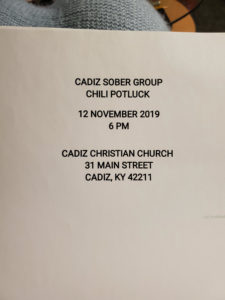 Cadiz Chili Supper @ Cadiz Christian Church