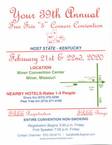 39th Annual 5 Corners Convention @ Miner Convention Center