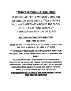 Thanksgiving Alkathon @ 13th Street Clubhouse