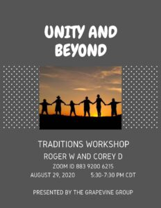 Grapevine Traditions Workshop @ Unitarian Universalist Church